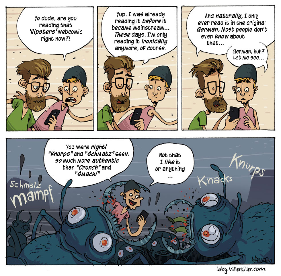 HIPSTERS vs. Giant Bugs, by Hillerkiller